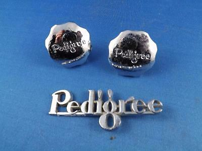 Pedigree Pram Stroller Knobs Covers & Metal Emblem Badge Ornament Decoration
