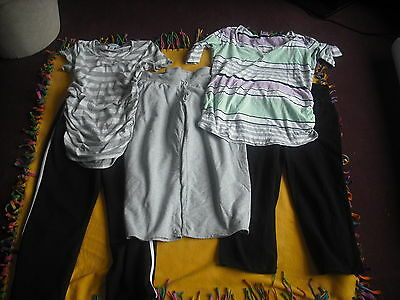 Womens Maternity Lot 5 Capris and Tops Size M Medium