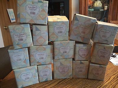 Calico Kittens Enesco LOT OF 17 Kitten Cat Figurines with original boxes