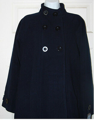 JoJo Maman Bebe Maternity Navy Swing Peacoat Winter Coat Sz M US 6/8 ;UK 8/10