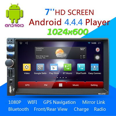 """7"""" Android Dual-Core BT A2DP Coche 2DIN GPS Estéreo Reproductor 3G/FM/AM/USB/SD"""
