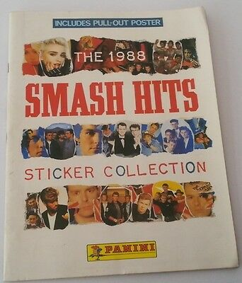 SMASH HITS STICKER BOOK with many stickers Madonna Jackson Duran (90% full)