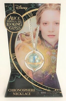 Disney Alice Through Looking Glass Time's Chronosphere Necklace