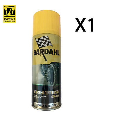 Grasso Spray Adesivo Catena Moto Strada Bardahl Bardhal High Speed Chain 400ml