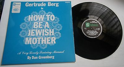 Gertrude Berg How To Be A Jewish Mother Rare Stateside Comedy Recording 1965