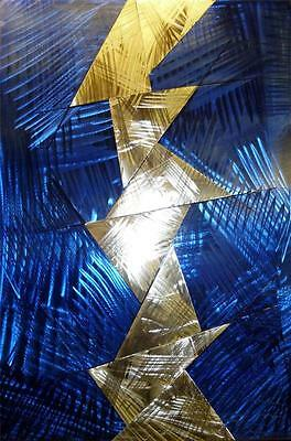 Bolt From The Blue Metal Wall Art Hand Crafted Sculpture Modern Steel Panel