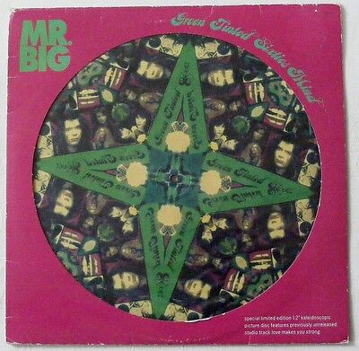 """MR BIG UK 1992 PICTURE DISC 12"""" Single GREEN TINTED Sixties mind  Disc=NearMINT"""