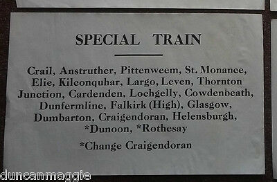 LNER? SPECIAL TRAIN Window/Carriage Label  - CRAIL TO ROTHESAY