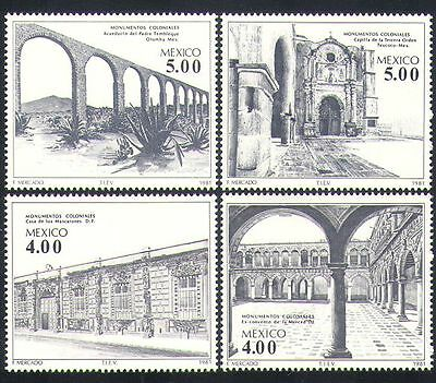 Mexico 1981 Buildings/Colonial Architecture/Aqueduct/Chapel/Convent 4v (n34080)