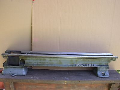 """Heavy 10  South Bend Metal Lathe 48"""" Underneath Drive  Bed"""