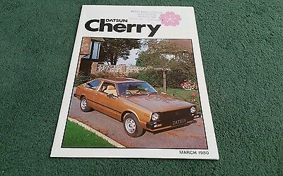DATSUN CHERRY COUPE HATCHBACK ESTATE March 1980 UK BROCHURE Carnell Doncaster