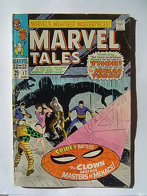 MARVEL TALES #17 1968 Ditko Spider-Man + Kirby 1st app SA Captain America GD