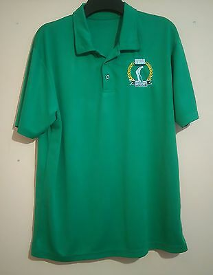 "Wirral Hundred Golf Society Bright Green Polo Shirt Awd Size Xl 46"" Whgs Vgc"