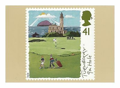TURNBERRY GOLF COURSE 9th HOLE, DONALD TRUMP FIRTH OF CLYDE, AYRSHIRE POSTCARD
