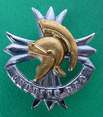 South Africa Army Edenvale Commando -  Regiment Greek Helmet African Cap Badge
