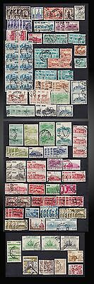 Years 1950 Peru Lot Of Used Airmails And Definitives Some Accumulation