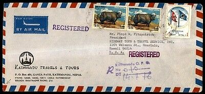 registered in Kathmandu Nepal commercial traveling company  cover 1976