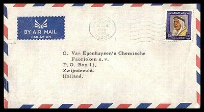 Kuwait 1972 45 Rate Airmail Cover To Zwindrecht Holland Single Franked