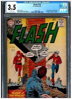 Flash #123 Cgc 3.5 Blue First Earth Ii Golden Age Flash Classic Cover Key