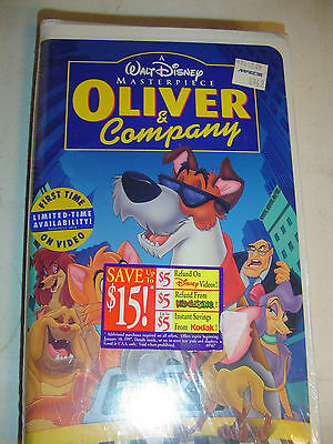 Walt Disney's Oliver and Company (VHS, 1996)  VHS Tape Brand New Factory Sealed