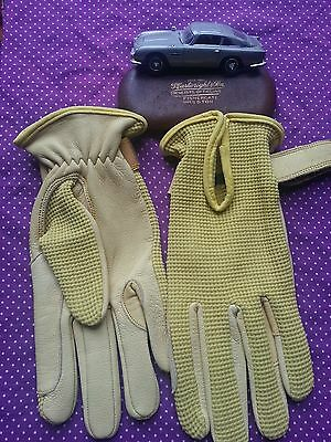 Vintage E.Q.v.v.s  Synthetic Leather Driving Equastrian Sports Gloves. Medium vg