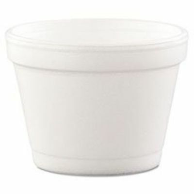 Dart Foam 4-oz. Food Containers, White, 1,000 Containers (DCC4J6)