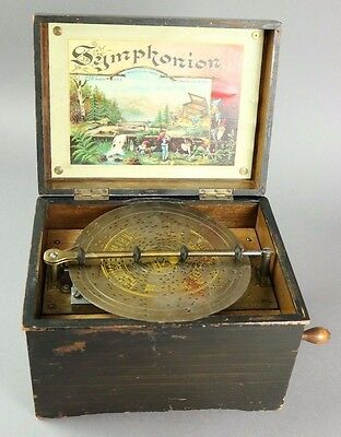 Antique Swiss Symphonion Disk Player - Music Box