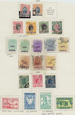 1899 -1900  Brazil Lot Mint And Used On Old Page Album  3 Complete Series