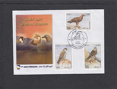 Algeria 2010 Birds of Prey First Day Cover FDC Alger special pmk