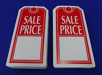 Qty. 100 Sale Price Tags with Slit Merchandise Price Tags Red / White