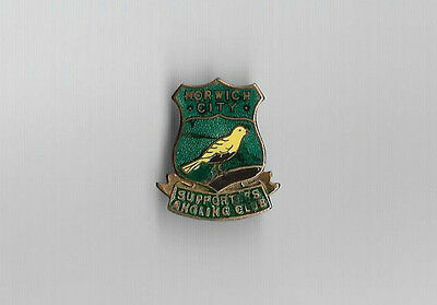 Vintage Football Badge - NORWICH CITY SUPPORTERS ANGLING CLUB