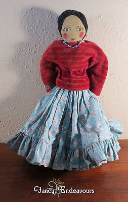Vintage Tiguex Bernalillo New Mexico Cloth Doll Native American Indian Girl Woma
