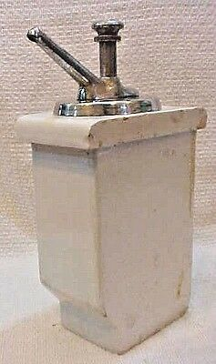 Antique soda fountain pump syrup dispenser heavy white Hall porcelain FREE S/H