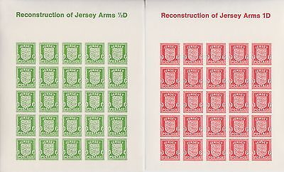 Jersey Stamps Occupation Shield Souvenir Exhibition Mini Sheets From Collection