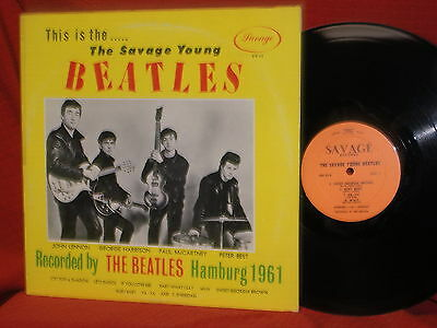 The Beatles Savage Young LP Record Recorded 1961 Hamburg Germany PETE BEST MINT-