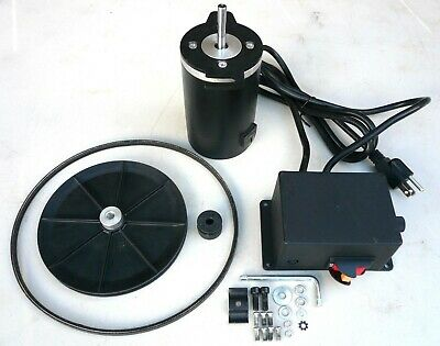 1/3 HP Variable Speed DC Drive Kit: Motor Control Pulleys Belt 250-900 RPM New