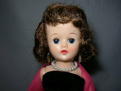 Vintage 1957 BRUNETTE Vogue JILL DOLL in TAGGED GOWN