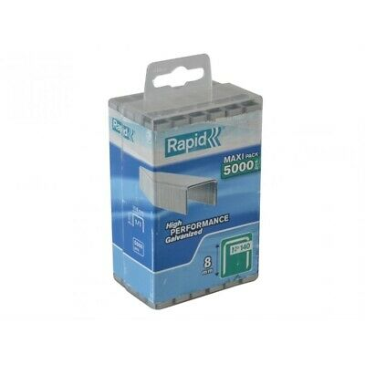 Rapid 140/8  8mm Galvanised Staples Poly Pack  5000