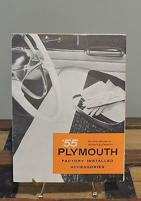 1955 Plymouth Factory Installed Accessories Folder- Very Nice New Condition