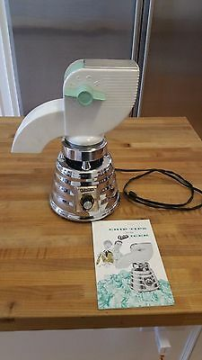 Vintage Oster Beehive Barware white/mint green ICER  with instructions  blender