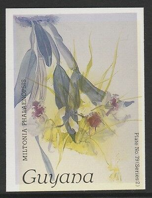 Guyana (1628) - 1985 Orchids Inverted Colour PROOF or ERROR unmounted mint