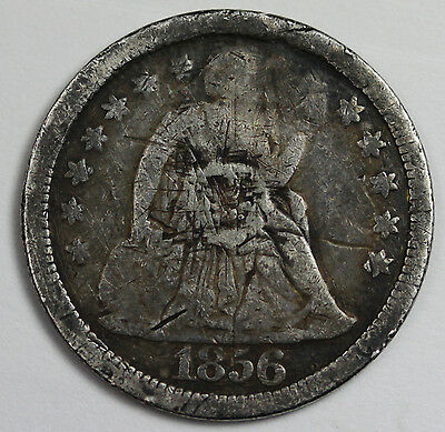 1856 Seated Liberty Dime.  Love Token.