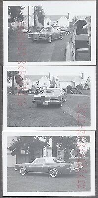 Lot of 3 Vintage Car Photos 1969 1971 Lincoln Continental MK III 740870