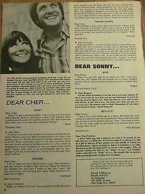Sonny and Cher, Full Page Vintage Clipping