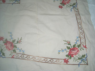 (10) Gorgeous Hand Embroidered LINEN Square tablecloth