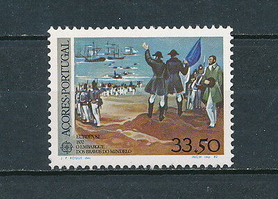 Portugal Azores 333 MNH, Europa, Heroes of Mindelo, 1982