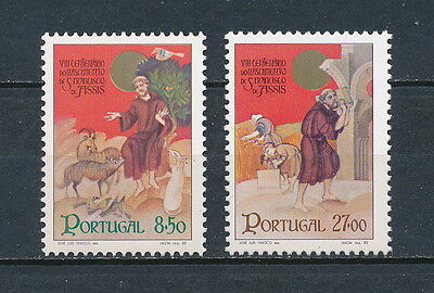 Portugal 1523-4 MNH, St Francis of Assisi, 1982