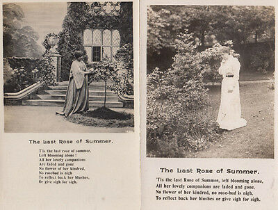 The Last Rose Of Summer 2x Religious Songcard Postcard