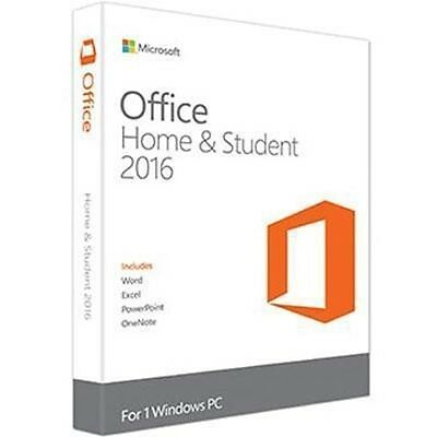Office Home and Stud 2016 FRN 79G-04583 Microsoft Software