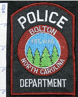 North Carolina, Bolton Police Dept Patch